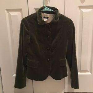 J crew size O velvet jacket